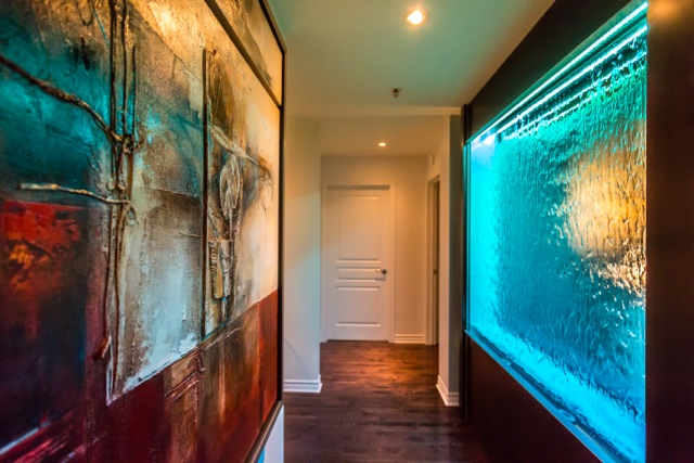nouveau mod le de mur d 39 eau avec panneaux de verre sec ext rieur. Black Bedroom Furniture Sets. Home Design Ideas
