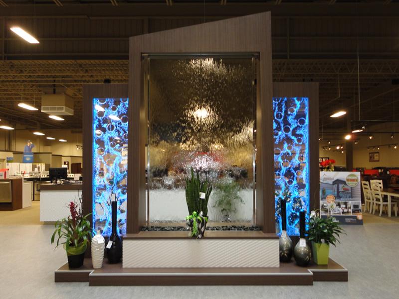 133 mur d 39 eau et mur de bulles sur podium. Black Bedroom Furniture Sets. Home Design Ideas
