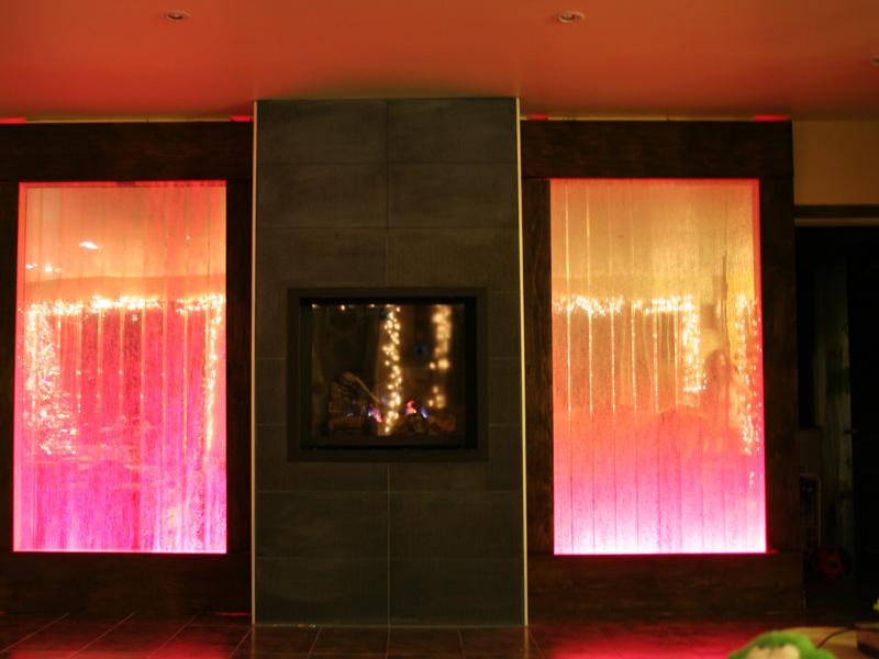 mur de bulles encastr avec cadre de bois. Black Bedroom Furniture Sets. Home Design Ideas